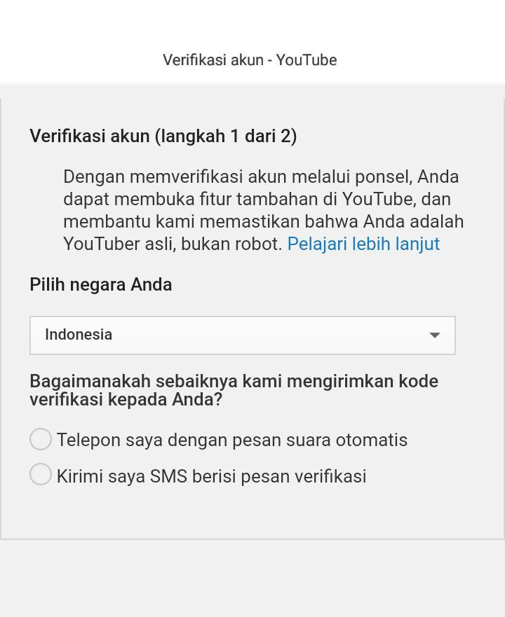 manfaat verifikasi akun di youtube