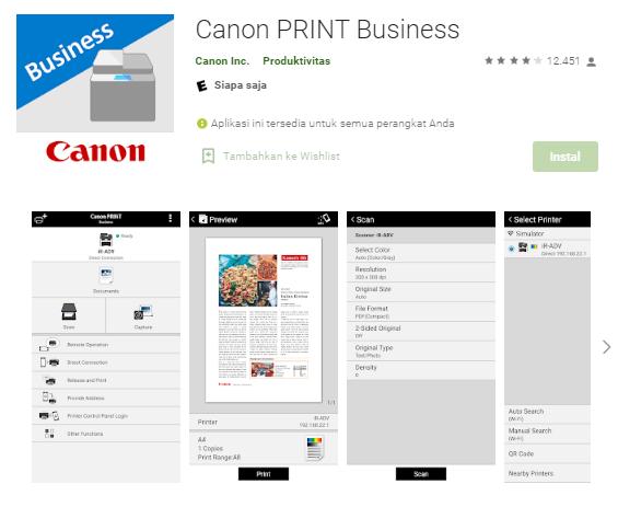 Cara Ngeprint Melalui Hp Menggunakan Aplikasi Canon Print