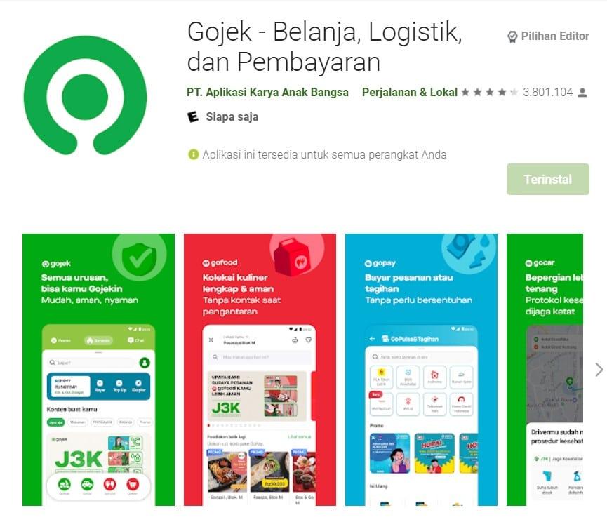 aplikasi gojek