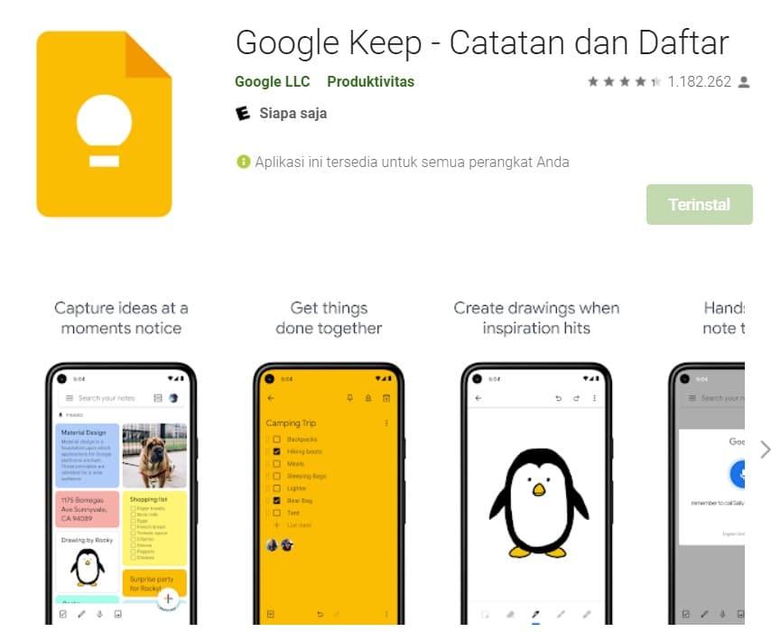 cara membuat pengingat di android dengan google keep