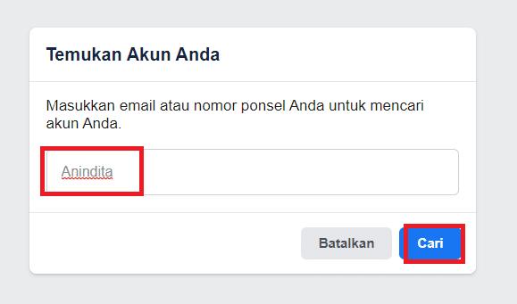 cara membuka facebook lupa kata sandi tanpa email
