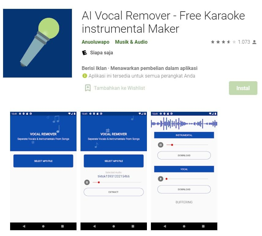 cara menghilangkan vokal pada lagu untuk android