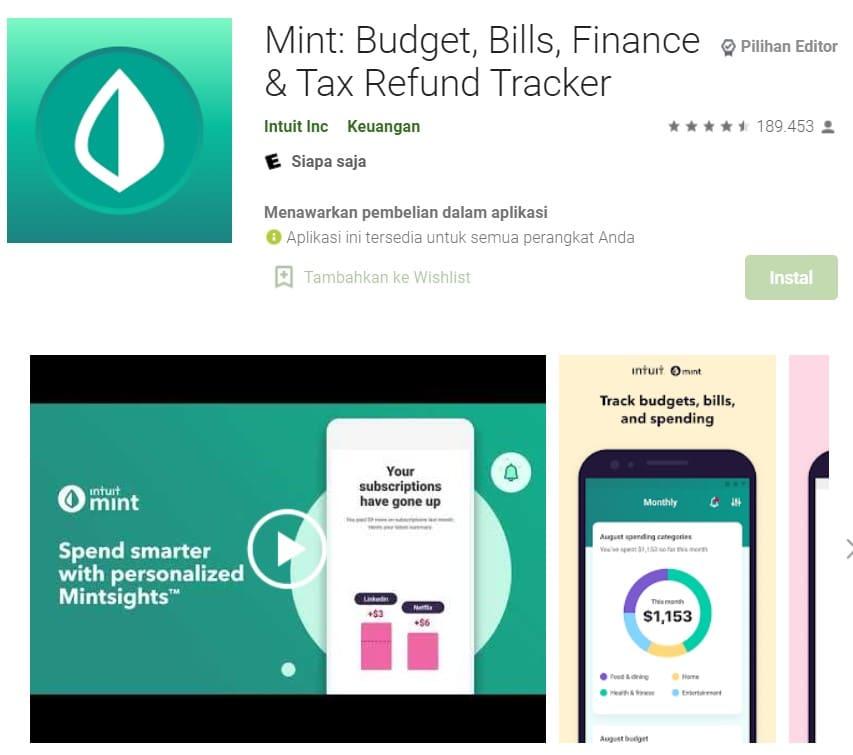 aplikasi pencatatan keuangan pribadi