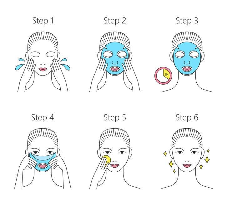 tutorial menggunakan masker kencantikan