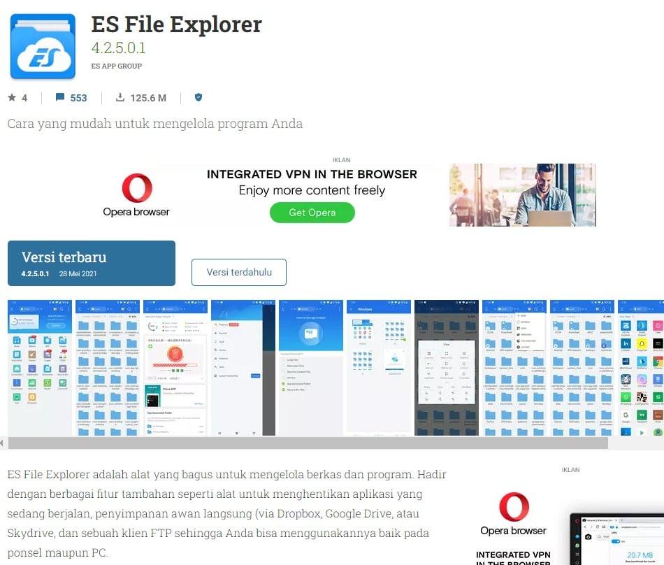 Cara Melihat Status Dengan ES File Explore