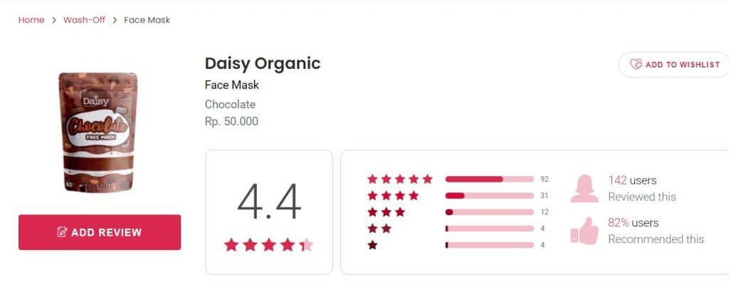 masker daisy coklat