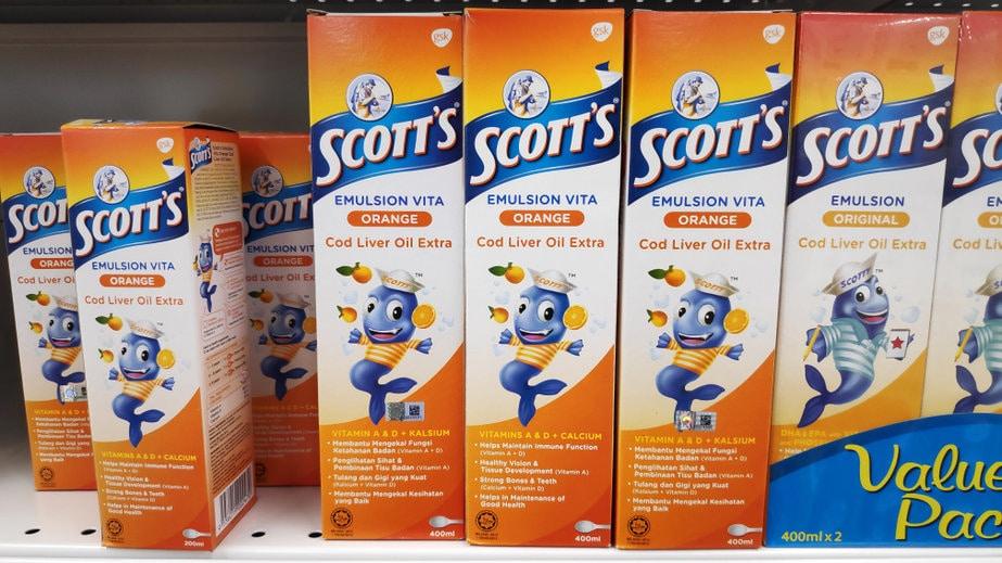 perbedaan scott emulsion putih dan orange