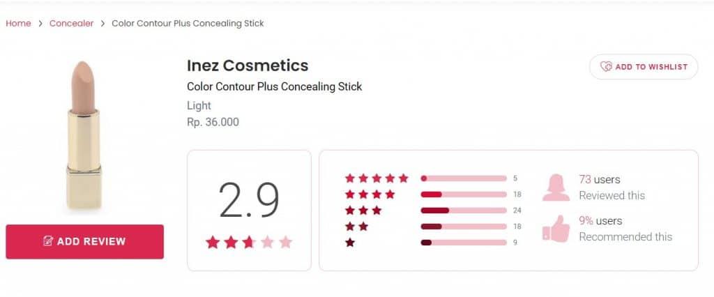 Inez Color Contour Plus Concealing Stick