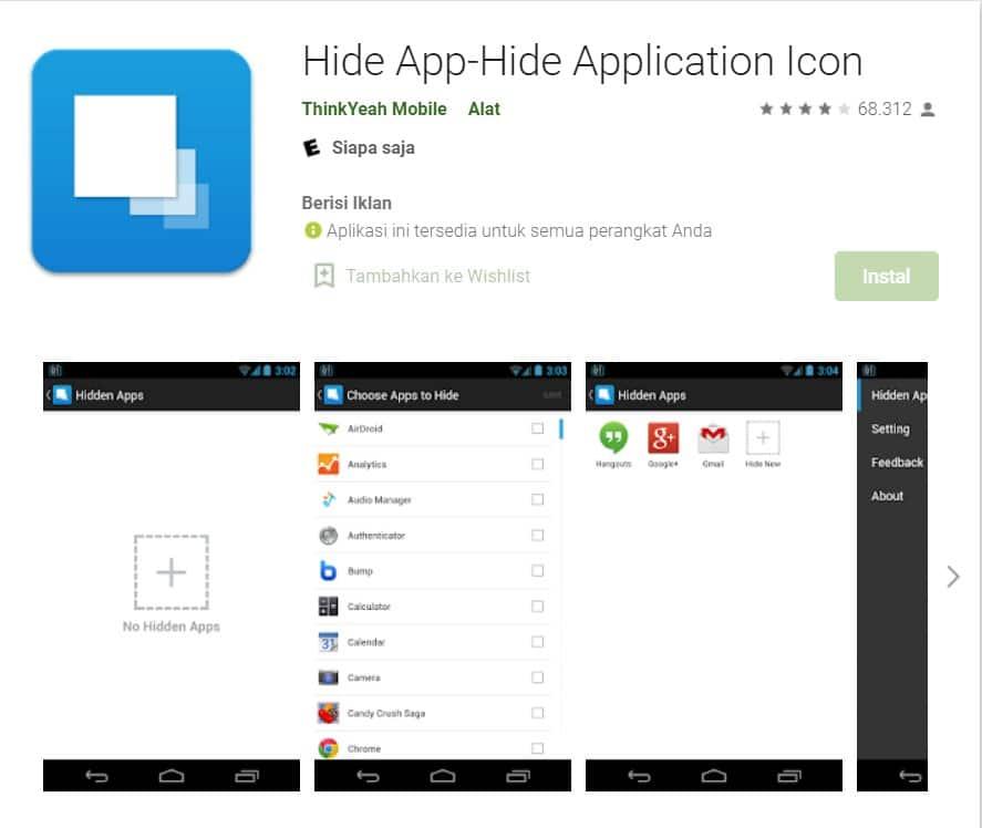 aplikasi hide